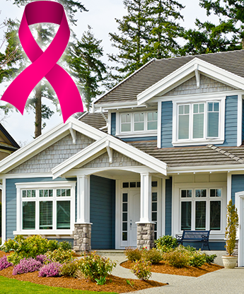 Home Exterior and a Cancer Ribbon
