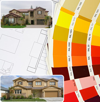 Painting Supplies and Two Residential Exteriors